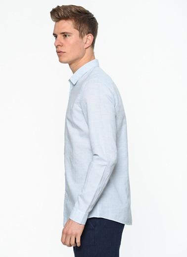 Keten Gömlek-Mavi